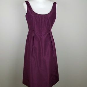 J.Crew 100% silk taffeta sleeveless dress in plum